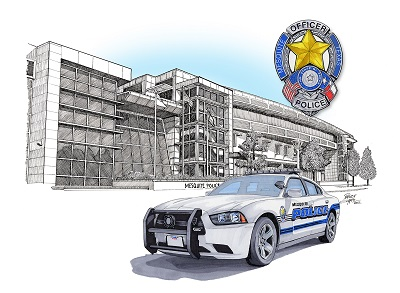 Texas - Box Five Police Art